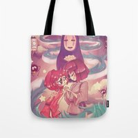 spirited away Tote Bags featuring Spirited Away  by SweetOwls