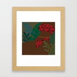 Jungle Fever // Woman, Feminine, Plants, Plant Lady, Nature, Green Framed Art Print