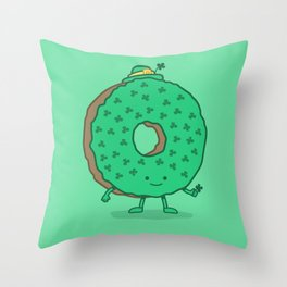 The St Patricks Day Donut Throw Pillow