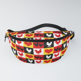 American Poultry Roosters and Hens Fanny Pack