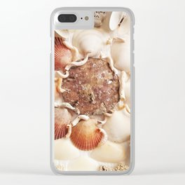 Sea Foam Sea Glass Clear iPhone Case