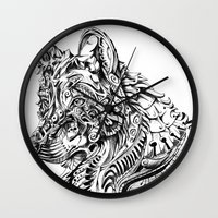 dreamer Wall Clocks featuring Dreamer by René Campbell Art