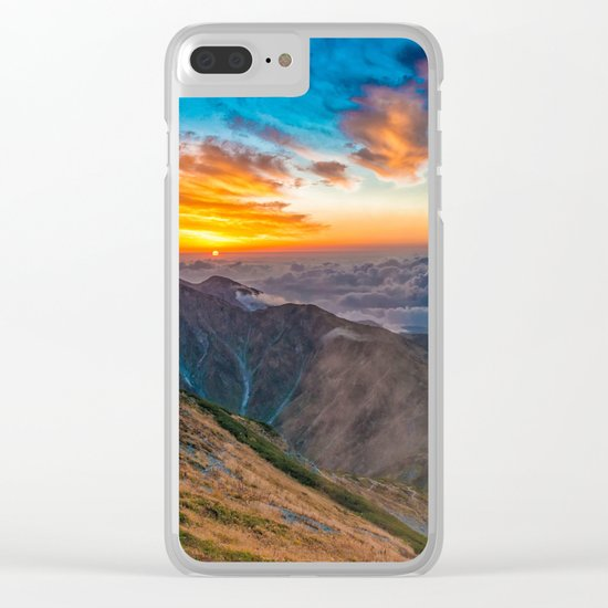 Northern Alps I Clear iPhone Case