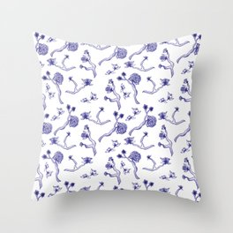 Flower Branches Throw Pillow