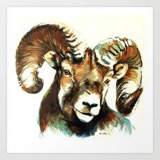 The Ram Art Print