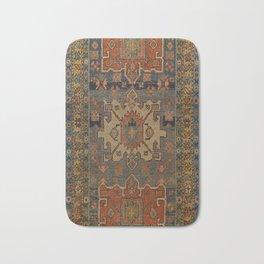 Persia Heriz 19th Century Authentic Colorful Orange Blue Green Vintage Patterns Bath Mat