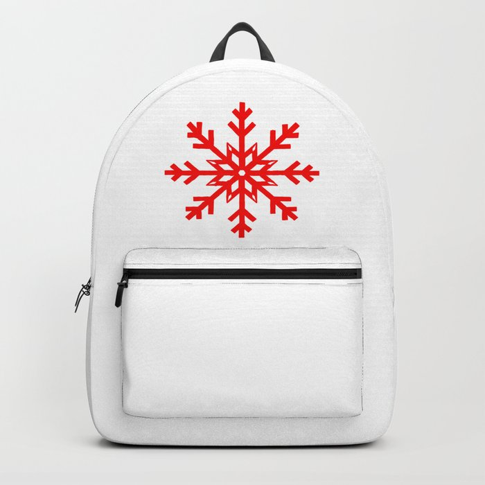 Red Snowflake, Christmas and Holiday Fantasy Collection Rucksack