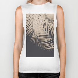 Palm Leaves Sepia Vibes #1 #tropical #decor #art #society6 Biker Tank