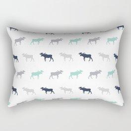 Moose pattern minimal nursery basic grey and white camping cabin chalet decor Rectangular Pillow