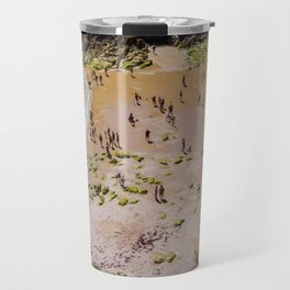 VISTA AEREA DE PLAYA CON GENTE Travel Mug