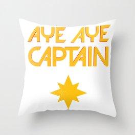 O captain! My captain! - Carol Danvers Throw Pillow