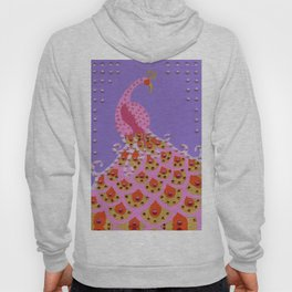 Peacock in Pink Hoody