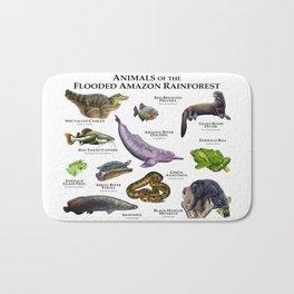 Animals of the Flooded Amazon Rainforest Bath Mat