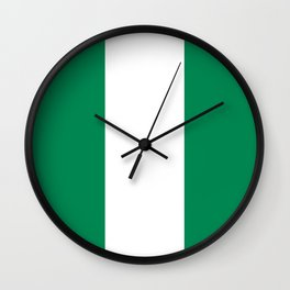 Flag of Nigeria - Authentic High Quality image Wall Clock