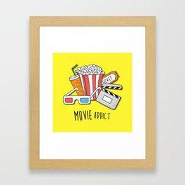 Movie Addict Framed Art Print