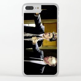 Paint Fiction Clear iPhone Case