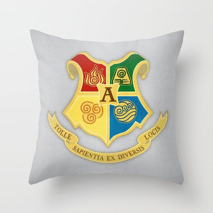The Avatar School of Bending Throw Pillow