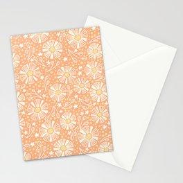 Orange Summer Blooms Stationery Cards