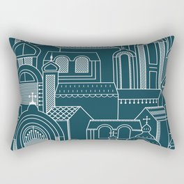 Ukrainian Church Monochrome Rectangular Pillow