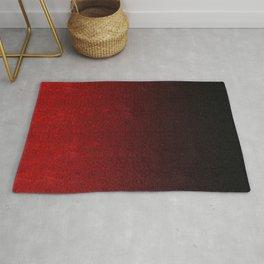 Red & Black Glitter Gradient Rug