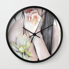 Roena - A Meeting with Myself, Lotus Swamp Wall Clock