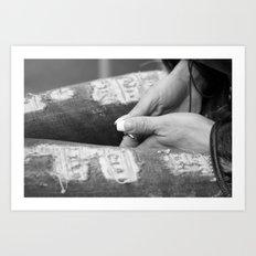 Hidden modesty Art Print