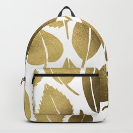 Cascading Leaves – Gold Palette Backpack