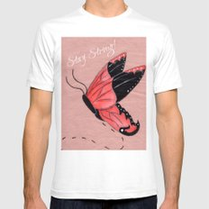 Resilient Wings SMALL White Mens Fitted Tee