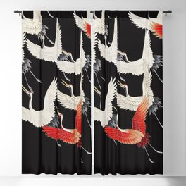 Furisode with a Myriad of Flying Cranes (1910-1920) by anonymous Blackout Curtain