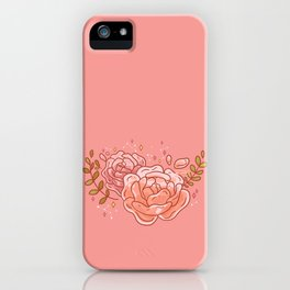 Two Clear Roses iPhone Case