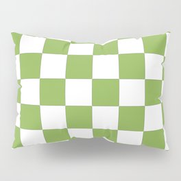 color of the year 2017  Greenery |checkerboard Pillow Sham