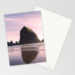 Cannon Beach and Haystack Rock | Oregon Coast Travel Photography Stationery Cards