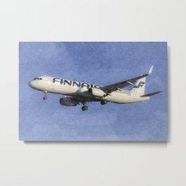 Finnair Airbus A321 Art Metal Print