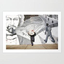 News Paper & Graffiti! Art Print
