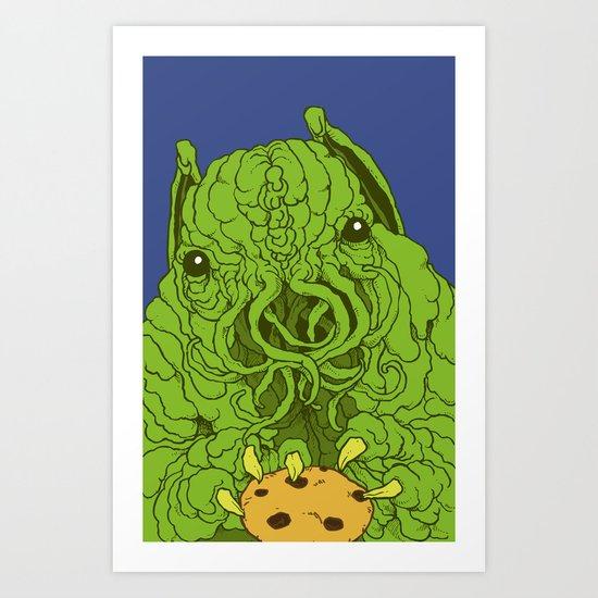 cthulhu wants a cookie Art Print