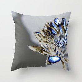 Iced Water Lily Throw Pillow
