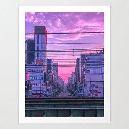 Tokyo Skies Art Print