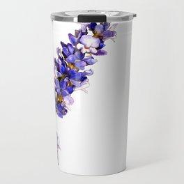Mediterranean Lavender on White Travel Mug
