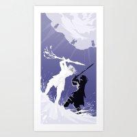 GOT snow fight Art Print