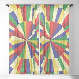 Mediterranean Sun Sheer Curtain