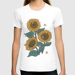 Sunflowers + Bees T-shirt