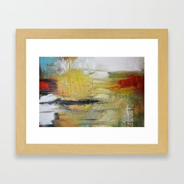 Abstract Red Green Art print from Original Painting  Framed Art Print