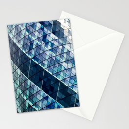 Gherkin Building abstract Stationery Cards