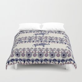 Indian Style Indie Hand Drawn Art Duvet Cover