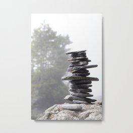 West Coast Inukshuk with Cedar Trees  #decor #society6 #buyart Metal Print