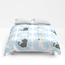 Cute Blue Kitties Comforters