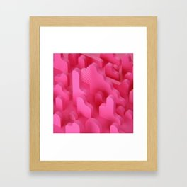 Abstract Shapes in Pink Framed Art Print