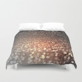 Tortilla brown Glitter effect - Sparkle and Glamour Duvet Cover