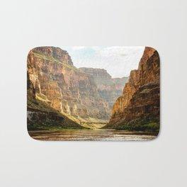 A muddy Colorado River in the Grand Canyon Bath Mat