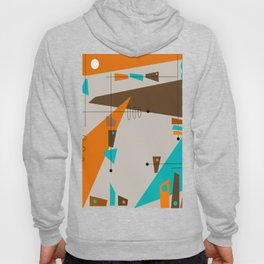 Mid-Century Rectangles Abstract Hoody